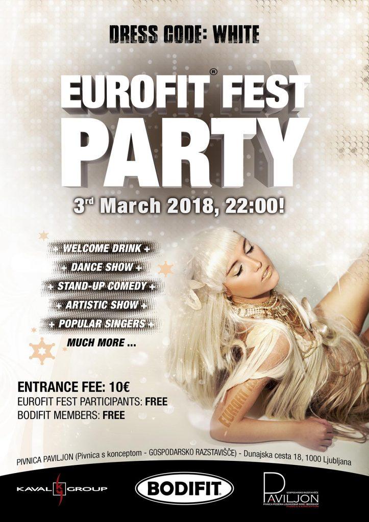 Plakat Eurofit fest party 2018